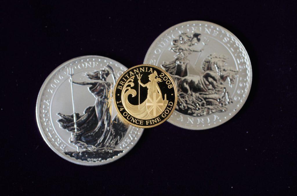 ブリタニア金貨とブリタニア銀貨