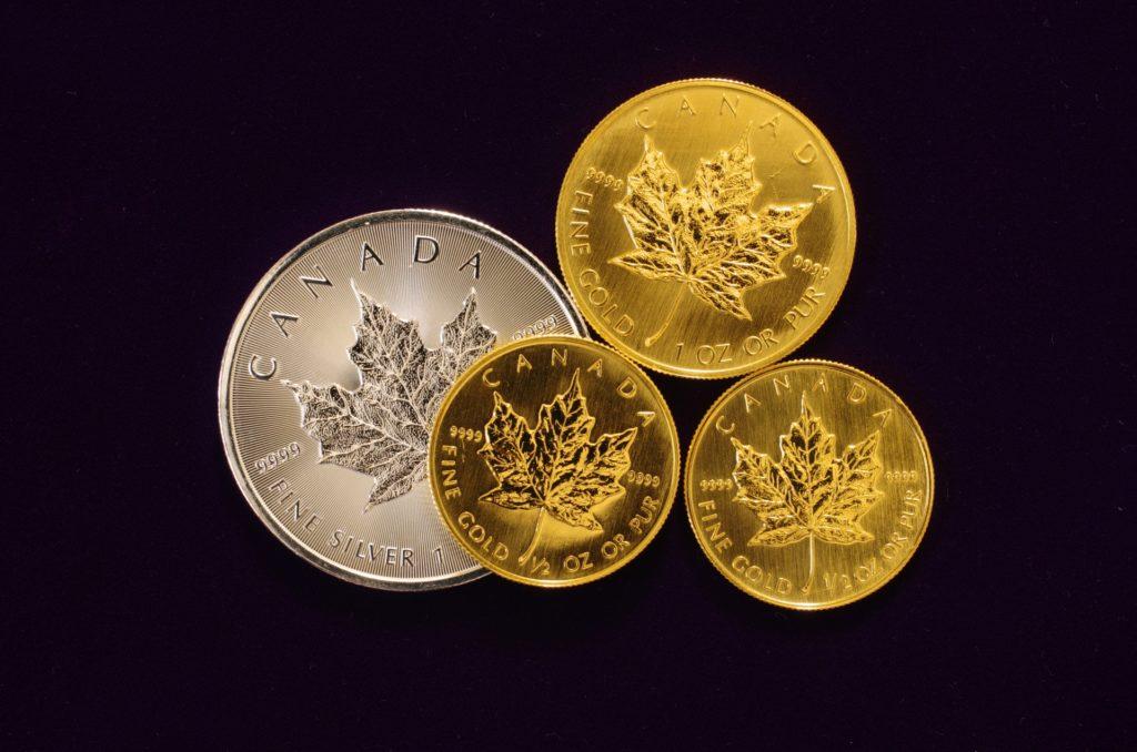 メイプルリーフ金貨とメイプルリーフ銀貨