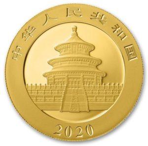2020年パンダ金貨裏面