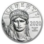 2020年イーグルプラチナコイン表面