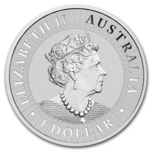 2020年カンガルー銀貨表面
