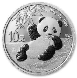 2020年パンダ銀貨表面