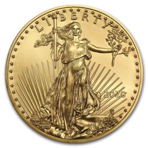 2020年イーグル金貨表面