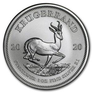 2020年クルーガーランド銀貨裏面