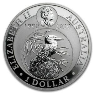 2020年カワセミ銀貨表面