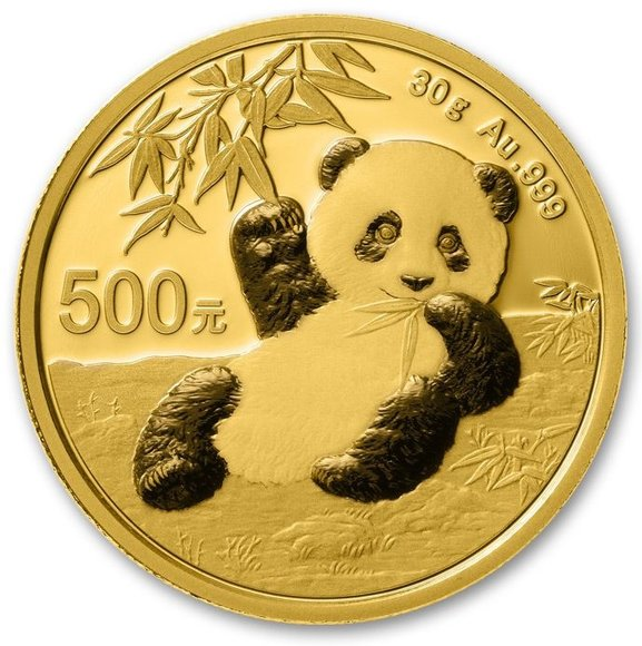 2020年パンダ金貨表面
