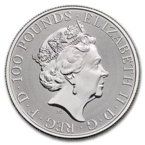 2020年ブリタニアプラチナコイン表面