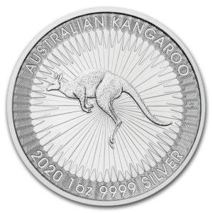 2020年カンガルー銀貨裏面