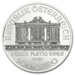 2020年ウィーンプラチナコイン表面