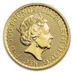 2020年ブリタニア金貨表面