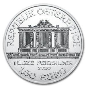 2020年ウィーン・フィル銀貨表面