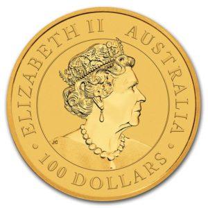 2020年カンガルー金貨表面