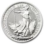 2020年ブリタニア銀貨裏面