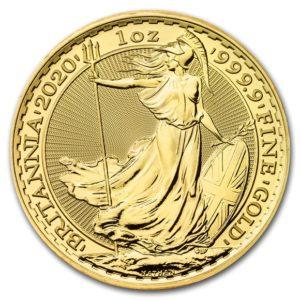 2020年ブリタニア金貨裏面