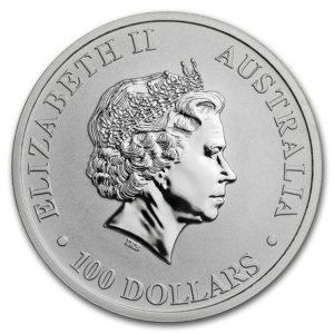 2020年カンガループラチナコイン表面