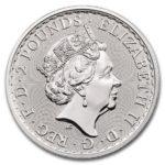 2020年ブリタニア銀貨表面
