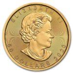 2020年メイプルリーフ金貨表面