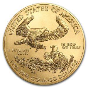 2020年イーグル金貨裏面