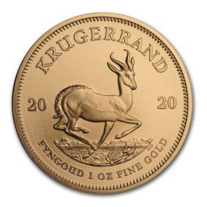 2020年クルーガーランド金貨裏面