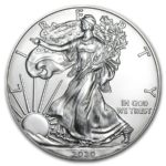 2020年イーグル銀貨表面