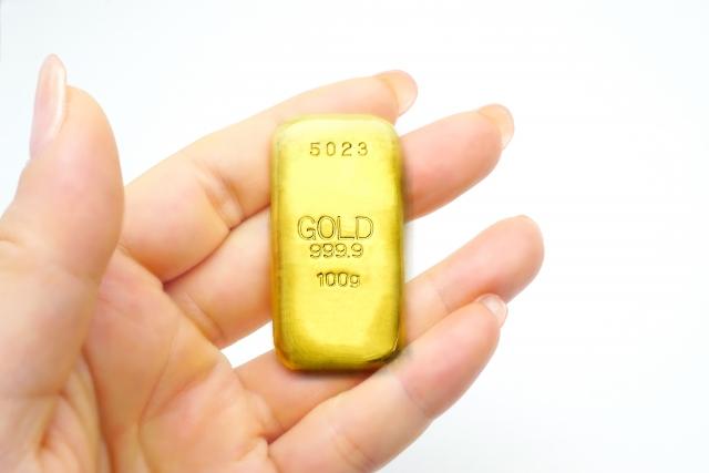 金地金(ゴールドバー)100gの大きさ